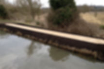 bank protection using sheet piling and n