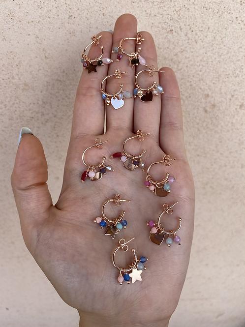 Coppia orecchini Argento 925 1 cm perline