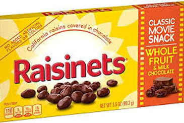 RAISINETS-THEATER BOX- 3.5OZ