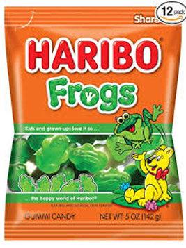 Haribo Gummi Frogs Peg Bag
