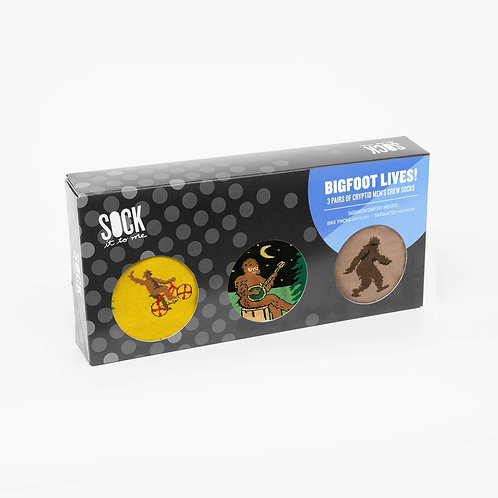Bigfoot Lives! Gift Box of three Sock it to Me ankle socks!