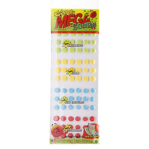 Candy Buttons, mega SOUR