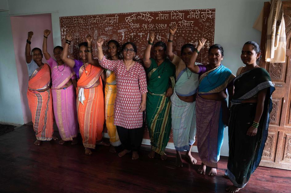 Davlari Women with Warli Art