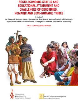 Social Economic Status & Educational Attainment & Challenges f Denotified Nomadic & Semi- Nomadic Tr
