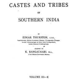 Castes and Tribes of South India Vol. 3 of 7