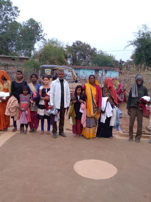 Distribution of Clothes in Panna