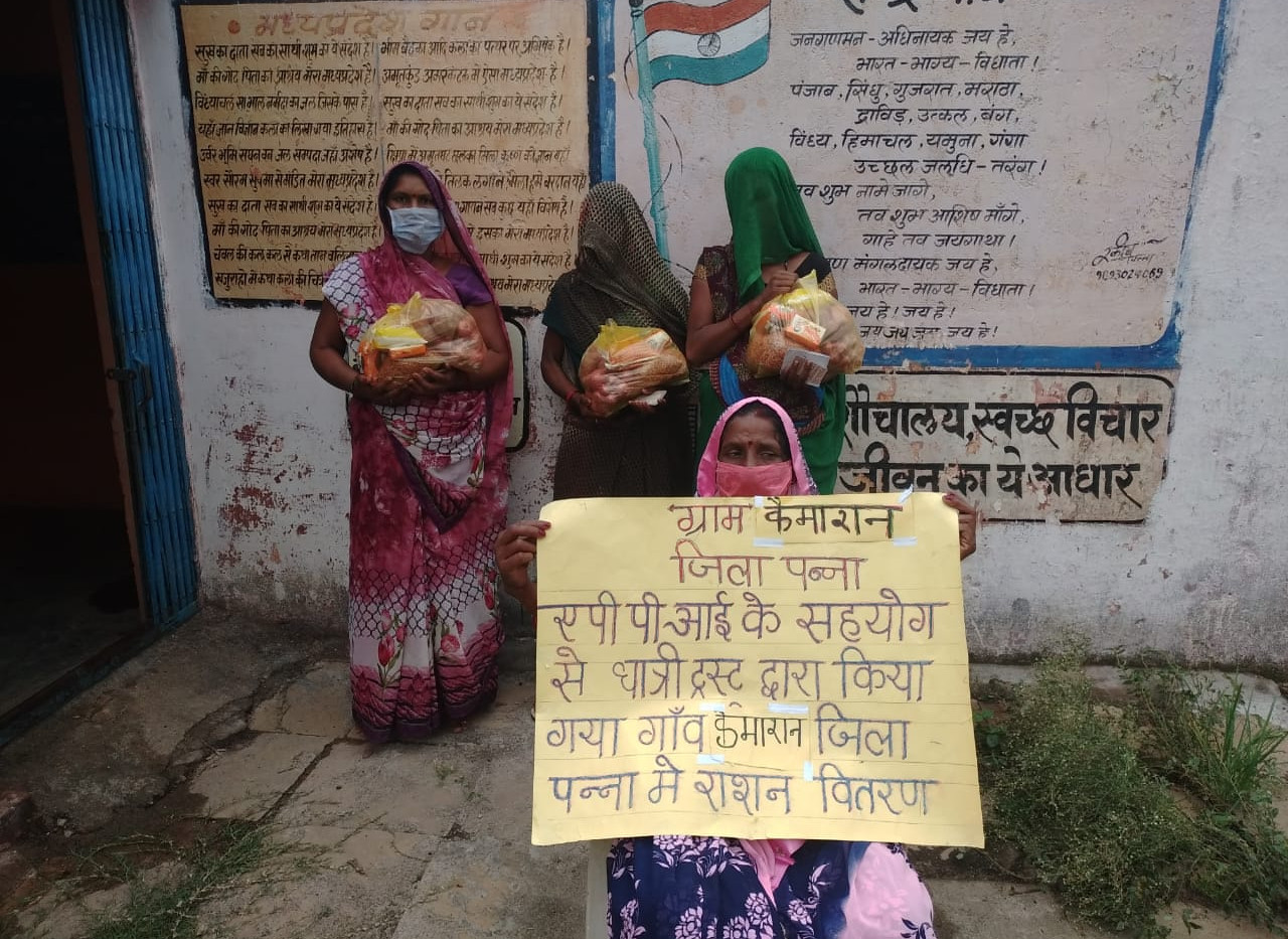 Food Distribution during Covid-19 in Panna