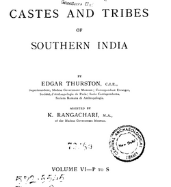 Castes and Tribes of South India Vol. 6 of 7