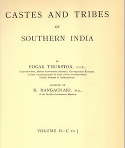 Castes and Tribes of South India Vol. 2 of 7