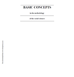 Basic Concepts in the Methodology of Social Sciences