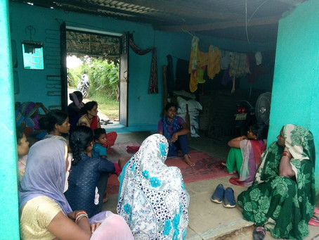 Women from Panna Tiger Reserve Affected villages discuss claims under IFR for their lands
