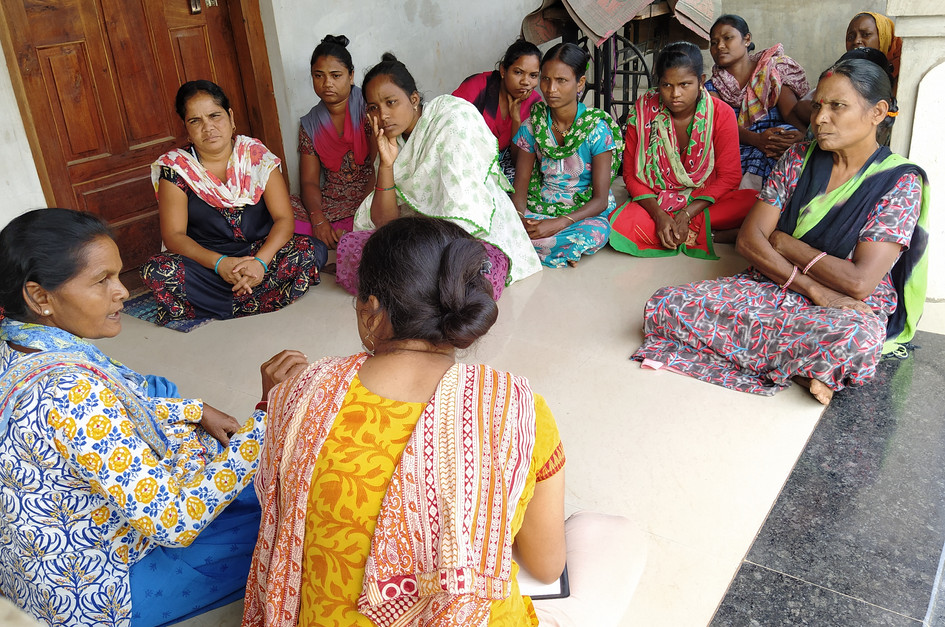 Meeting with women group