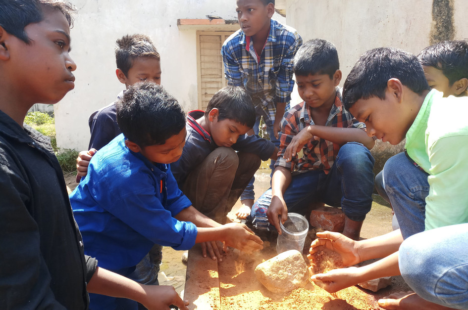 Art workshop with Tribal Students