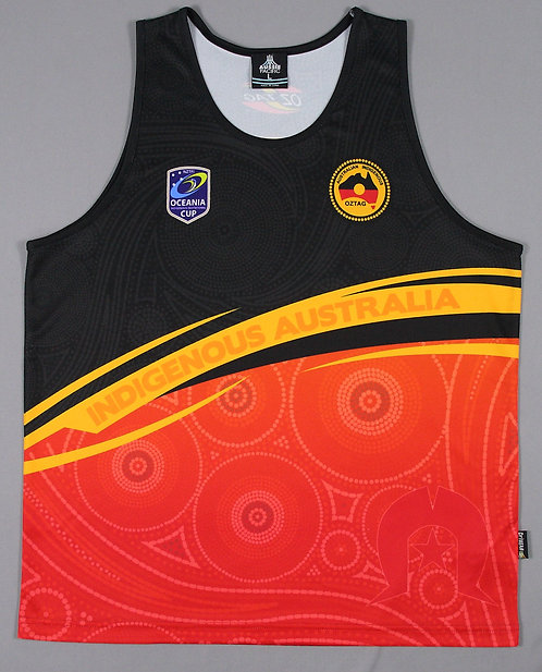 Oceania Cup Mens Training Singlet Indigenous