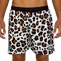 White Leopard Shorts