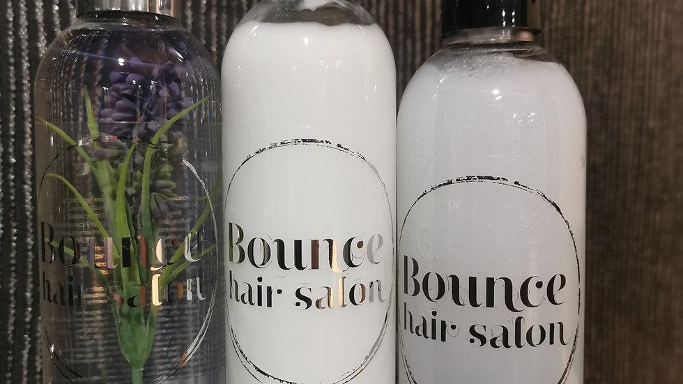 Natural shampoo / conditioner +miracle spray