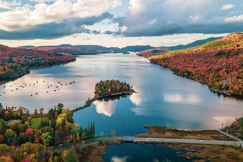 Lac Tremblant en automne