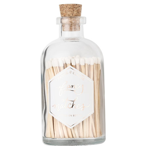 Frankie & Claude Fancy Matches - White