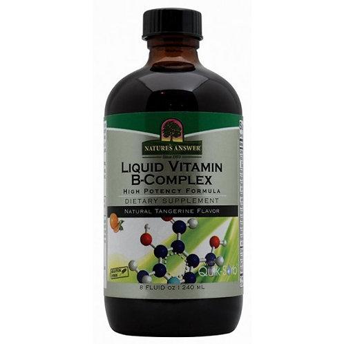 Nature's Answer, Liquid Vitamin B-Complex, Natural Tangerine Flavor, 240ml