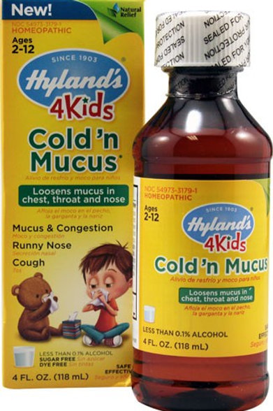 Hyland's, 4 Kids, Cold 'n Mucus, Ages 2-12,118 ml