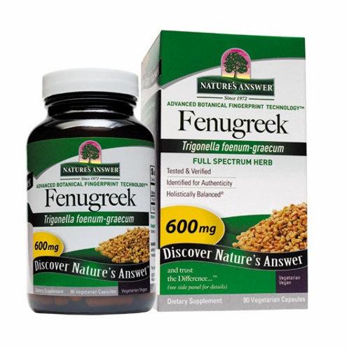 Nature's Answer, Fenugreek, 600 mg, 90 Vegetarian Capsules