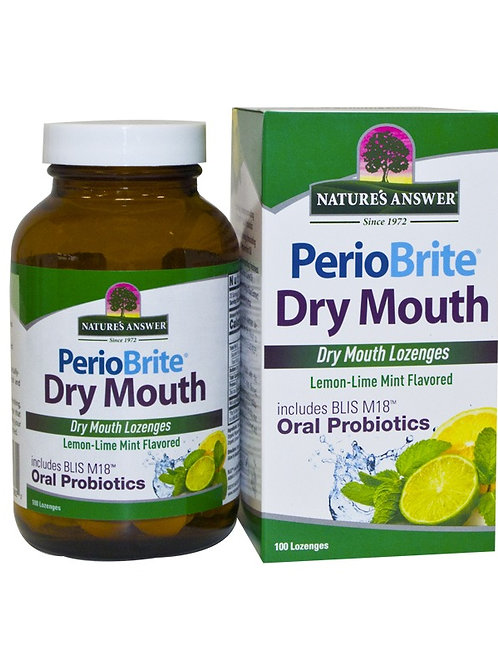 Nature's Answer PerioBrite Dry Mouth 100 Lozenges