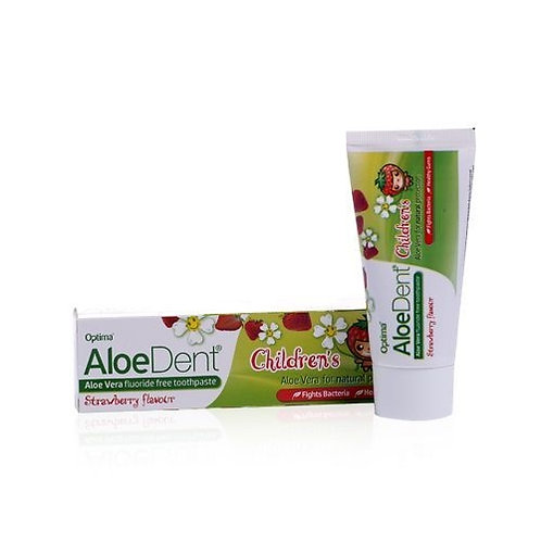 Optima Aloe Dent Childrens Strawberry Flavour Toothpaste 50ml