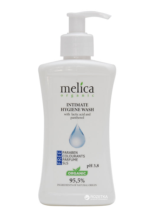 Melica Organic Intimate Wash Gel with lactic acid and panthenol 300 ml