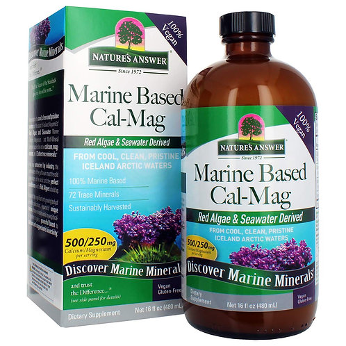 Nature's Answer Marine Based Calcium Magnesium, 480ml