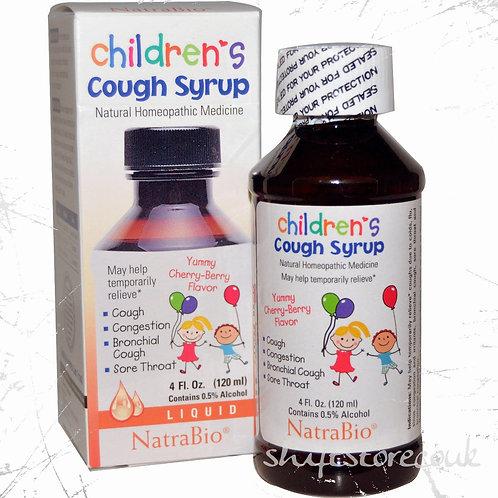 NatraBio, Children's Cough Syrup, Yummy Cherry-Berry Flavor, 120 ml