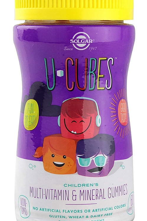 U-Cubes™ Multi-Vitamin & Mineral Gummies-Pack of 60