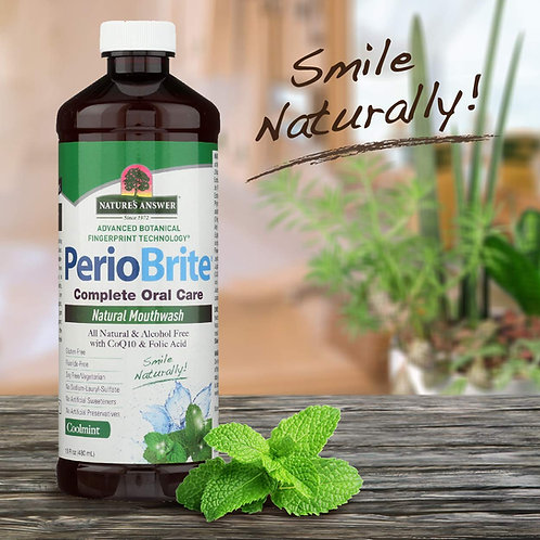 Nature's Answer, PerioBrite Mouthwash Cool Mint 480ml