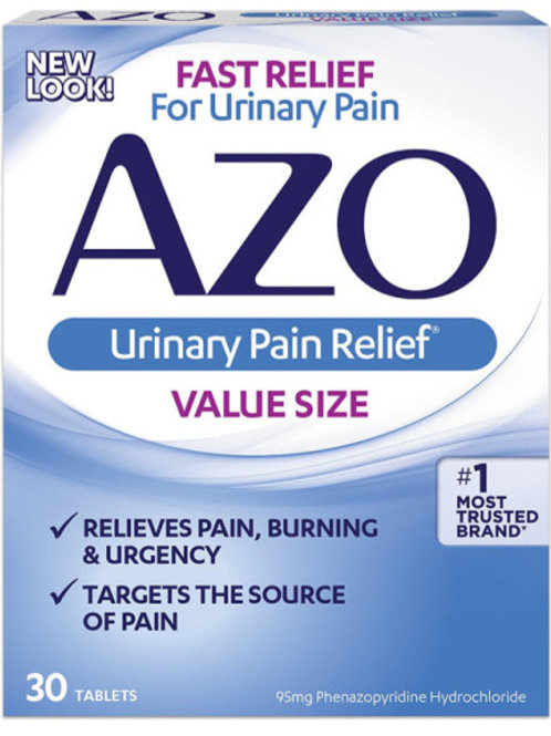 AZO Natural Urinary Pain Relief, 30 Tablets