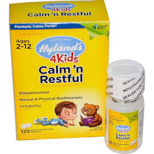 Hyland's, Calm' n Restful 4 Kids, 125 Quick-Dissolving Tablets