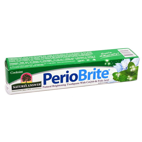 Nature's Answer, PerioBrite, Natural Whitening Toothpaste Cool Mint 113.4g