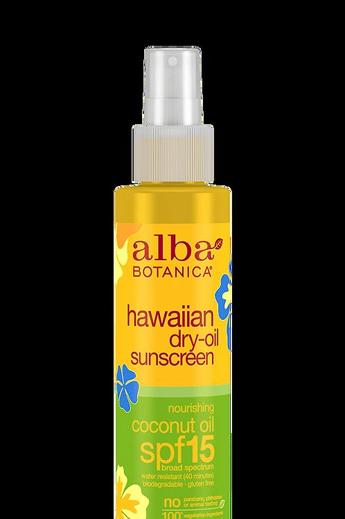 Alba Botanica hawaiian dry oil sunscreen nourishing coconut oil spf 15 - 133ml