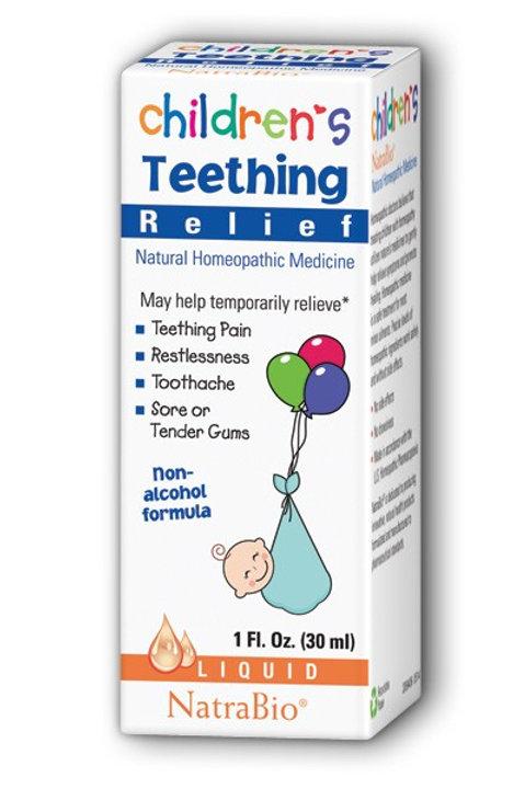 NatraBio Children's Teething Relief, Non-Alcohol Formula, Liquid 30ml