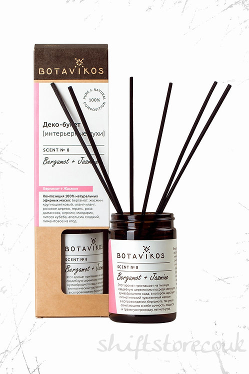 Botavikos perfumes with bergamot and jasmine 100% Natural Room Diffuser 100ml