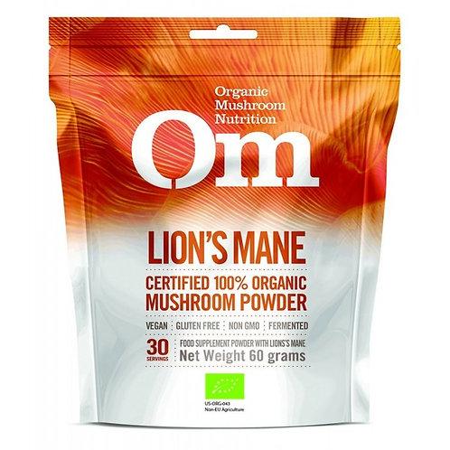 Om - Lion's Mane Organic Mushroom Powder -60g. Formerly Mushroom Matrix