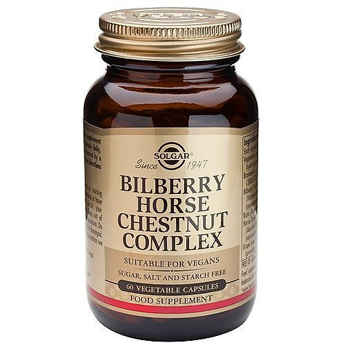 Solgar Bilberry Horse Chestnut Complex, 60 VCapsules