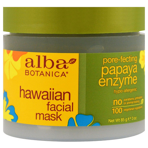 Alba Botanica, Hawaiian Facial Mask, Pore-Fecting Papaya Enzyme 85 g