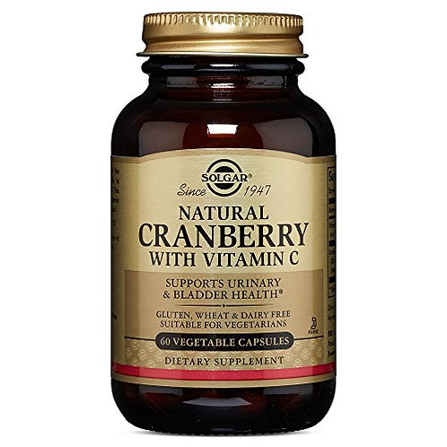 Solgar Natural Cranberry with Vitamin C - 60 VCaps