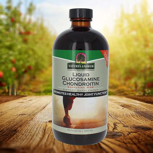 Nature's Answer, Liquid Glucosamine Chondroitin with MSM, Orange Flavor 480ml