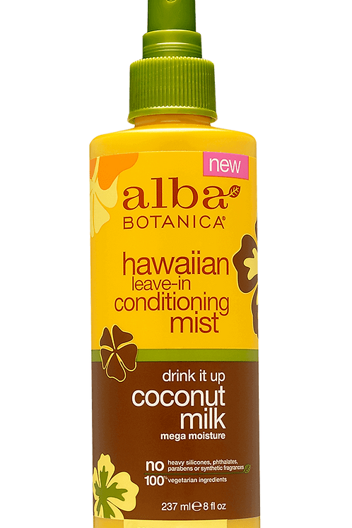 Alba Botanica hawaiian leave-in conditioning mist drink it up coconut milk 237ml