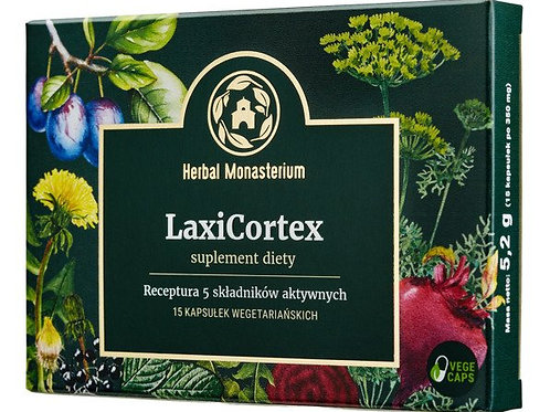 Herbal Monasterium LaxiCortex for digestion 15Vcaps