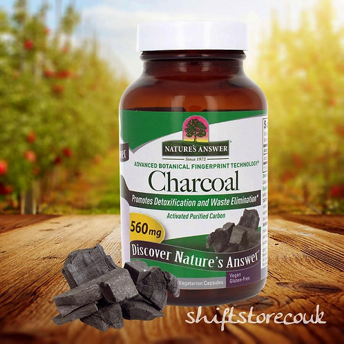 Nature's Answer, Charcoal, Activated Purified Carbon, 560 mg, 90 Vcaps