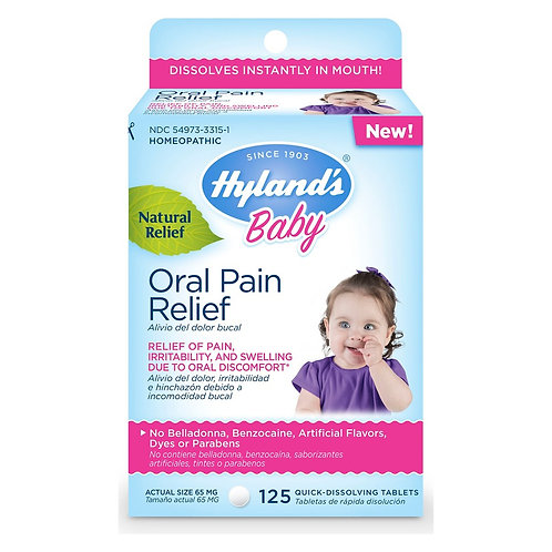 Hyland's, Baby, Oral Pain Relief Daytime 125 tabs