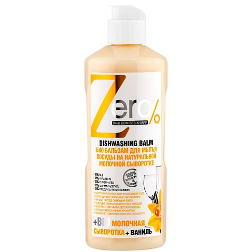 Zero - Ecological Dish Washing Gel - BIO Milky Whey and Vanilla 500ml