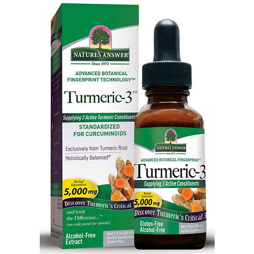 Nature`s Answer Turmeric-3 - 3 Active Turmeric Constituents - 30ml