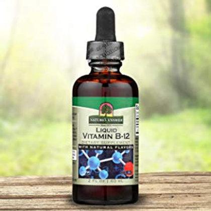 Nature's Answer Vitamin B12 Liquid Natural Flavors 1000mcg - 60ml